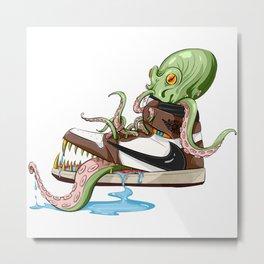 Travis x Octopus Monster Metal Print