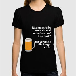 No Fancy Beer Not With Me T-shirt
