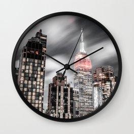 New York City Night Sky Wall Clock