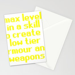 max level skill low tier Stationery Cards