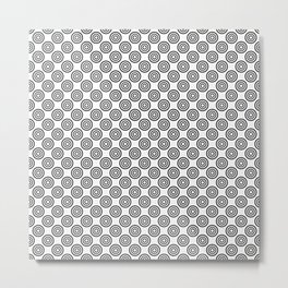 Polka Dots Rings Pattern Metal Print
