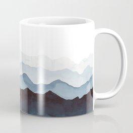 Indigo Mountains Landscape Coffee Mug