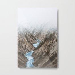 Mountain blue river Metal Print