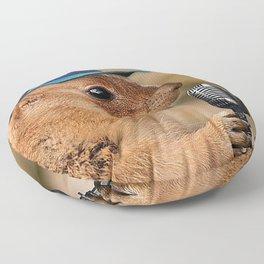Prairie Dog Hipster on Mic Floor Pillow
