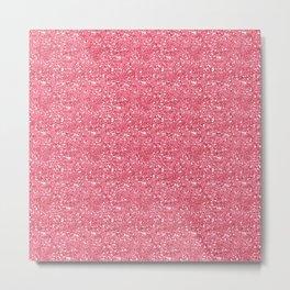 Lovely Modern Pink Glitter illustration  Metal Print