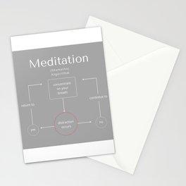 Meditation Algorithm No.1 Stationery Cards