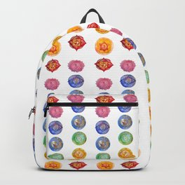 Seven Chakra alligned Watercolor art Backpack