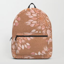 Boho terracotta floral oriental pattern_Bloomartgallery Backpack