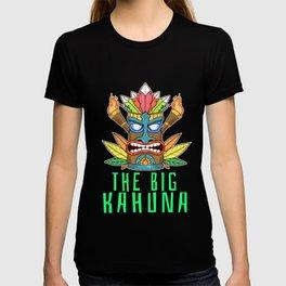 Cool Tiki Gift Design Hawaiian The Big Kahuna Print T-shirt