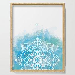 Blue Mandala Serving Tray