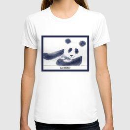 Just Chillin' Whimsical Panda Bear Design T-shirt