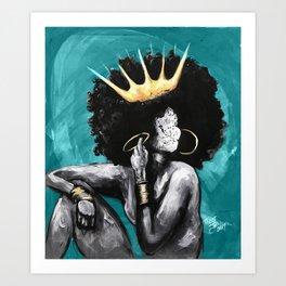 Naturally Queen VI  TEAL Kunstdrucke