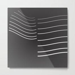 White Lines Minimal Metal Print