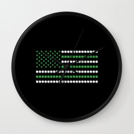 St Patrick's Day American Flag Wall Clock