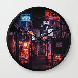 Golden Gai Tokyo Bar Crawl Wall Clock