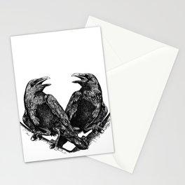 Odins Ravens Huginn and Muninn Stationery Cards
