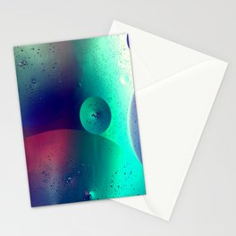 Electric Oil Droplets Number One Stationery Cards