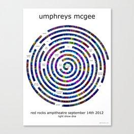 Umphrey's McGee Red Rocks 2012 Spiral Art Canvas Print