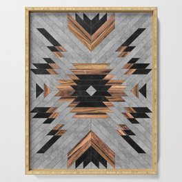 Urban Tribal Pattern No.6 - Aztec - Concrete and Wood Serving Tray