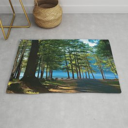 Tree Grove & Lake Sunrise Rug