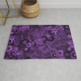 Purple blossoms Rug