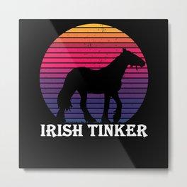 Irish Tinker - Horse Breed Of Horse Rider Metal Print