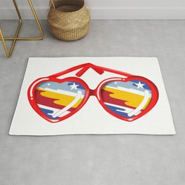 California Girl Sunglasses Rug