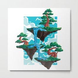 Bonsai Tree Floating Garden Islands Gift Metal Print