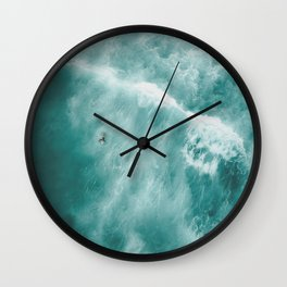 Surfer Surfing Bondi Beach Wall Clock