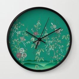 Chinoiserie Garden Wall Clock
