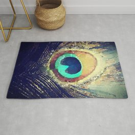 Peacock Feather  Rug