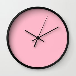 Pink Lemonade Solid Block Color Wall Clock