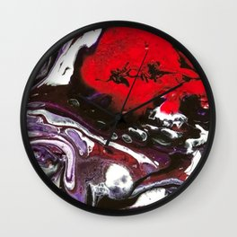 Purple intensity Wall Clock