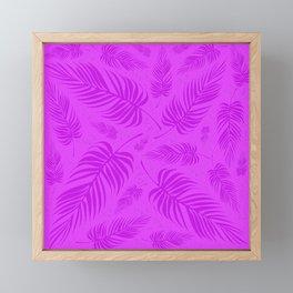 Leaves V2 PURPLE Framed Mini Art Print