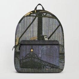 Kawase Hasui - Twenty Views Of Tokyo, Shinohashi Bridge - Digital Remastered Edition Backpack