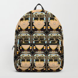 Ice Hockey Black and Yellow - Faceov Puckslapper - Sven version Backpack