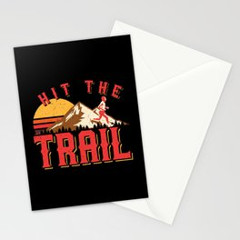 Vintage Gym Hit The Trail Running Marathon Gift Stationery Cards
