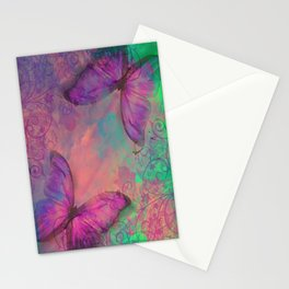 Butterfly Love Abstract Stationery Cards