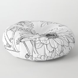 Gerberas 1 Floor Pillow