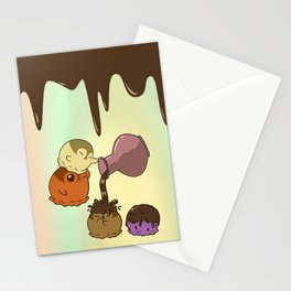 Penguinscoops - Chocolate shower time Stationery Cards