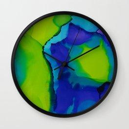 Purple and green dreams Wall Clock