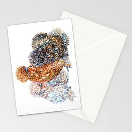 Silkie Chicken Sisters Stationery Cards