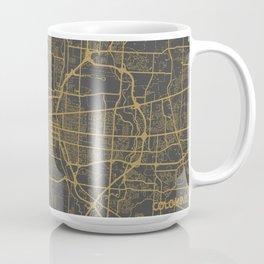 Columbus map orange Coffee Mug