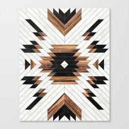 Urban Tribal Pattern No.5 - Aztec - Concrete and Wood Leinwanddruck