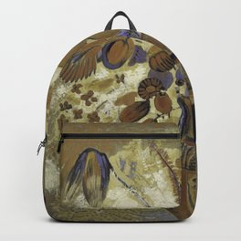 Etruscan Vase with Flowers - Odilon Redon Backpack