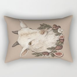 Goat and Figs Rectangular Pillow