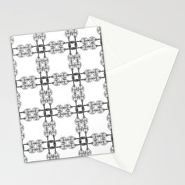Minimalist Drawing of a Mandolin Pattern Plaid Stationery Cards