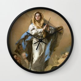 The Immaculate Conception by Giovanni Battista Tiepolo (c 1768) Wall Clock