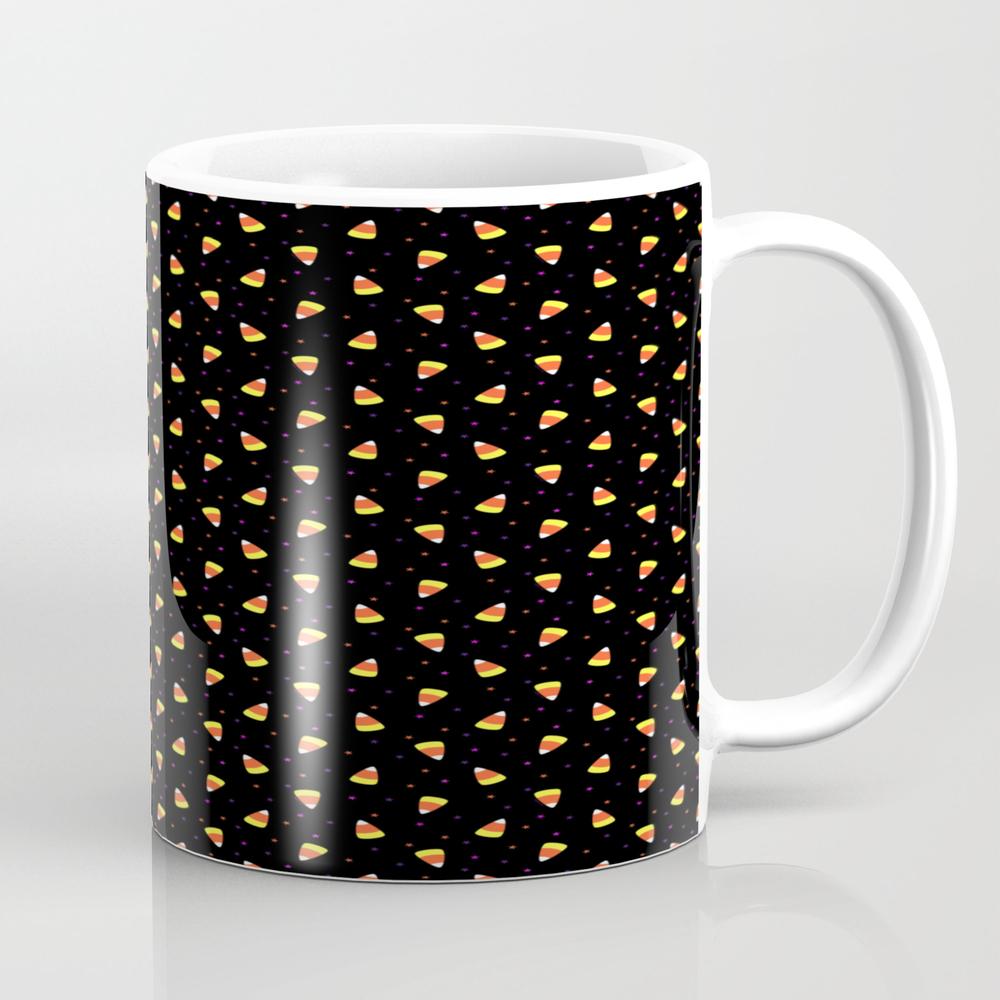 Halloween Candy Corn Pattern Tea Cup by Artvixen MUG7808490