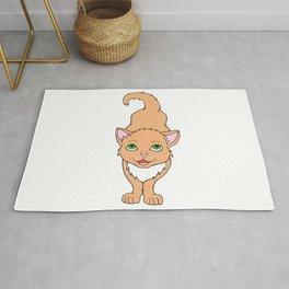 Adorable Buff Orange Ginger Kitten  Rug